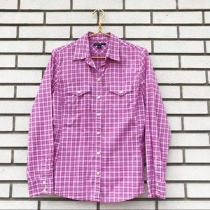 Banana Republic Plaid Soft Wash Button Up Shirt